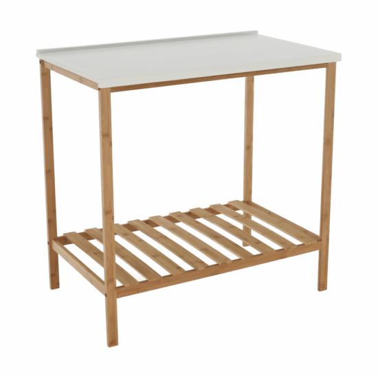 SELENE Polcos kisasztal,  természetes/fehér [TYP 5]