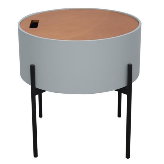 MOSAI kisasztal, szürke/természetes/fekete