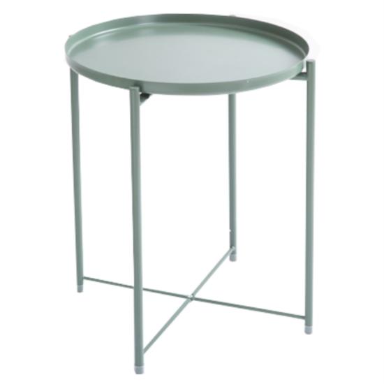 TRIDER Kisasztal levehető tálcával,  zöld