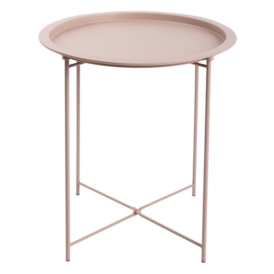 RENDER Kisasztal levehető tálcával,  nude rózsaszín