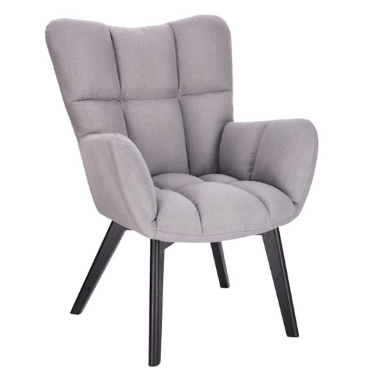 FONDAR Dizájnos fotel,  szürke/fekete