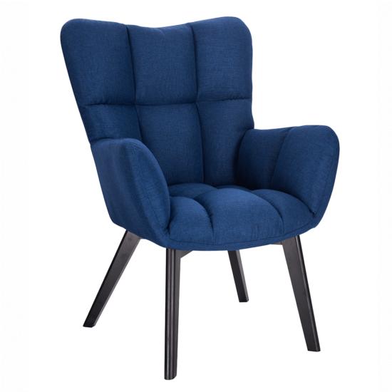 FONDAR Dizájnos fotel,  kék/fekete