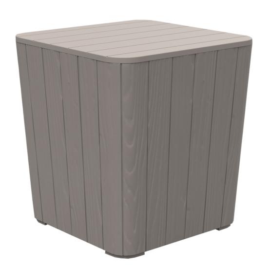 IBLIS Kerti tároló doboz/kisasztal,  szürke