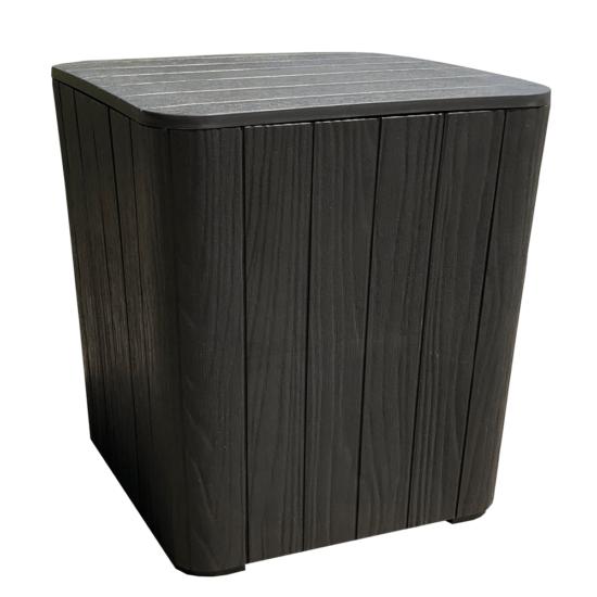 IBLIS Kerti tároló doboz/kisasztal,  fekete