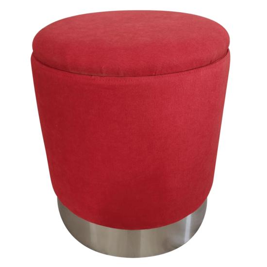 DARON Puff,  oxy fire piros anyag/ezüst króm