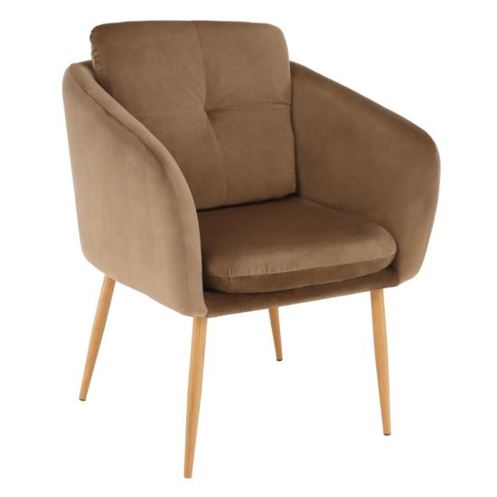 AVETA Dizájner fotel,  barna Velvet szövet