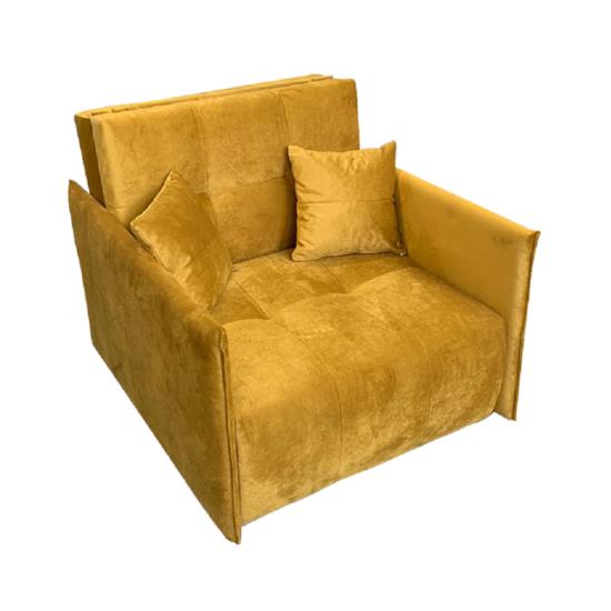ALANA Kinyitható fotel,  mustár színű szövet Riviera