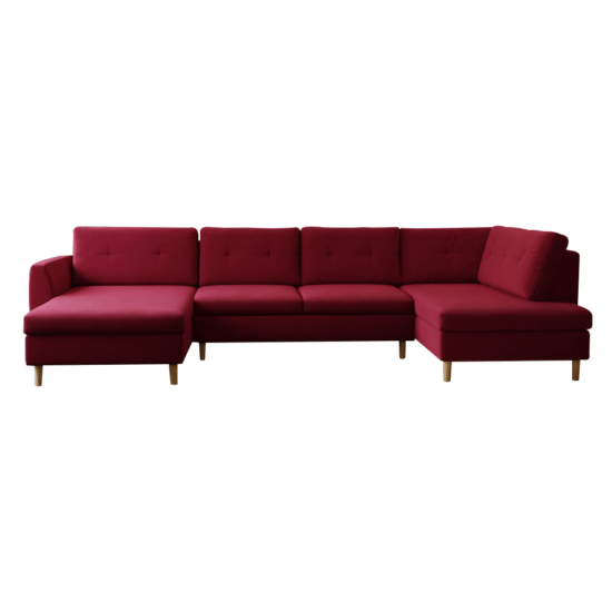 SASHA Ülőgarnitúra - piros,  jobbos [U]