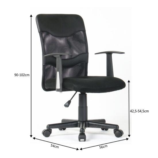 CADIF modern irodai szék, fekete háló