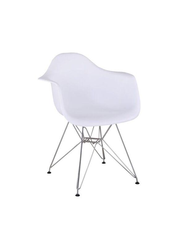 ülőrész FEMAN 3 NEW szék kivitel : króm lábak ,  FEMAN 3 NEW szék kivitel : króm lábak  [fehér műanyag]