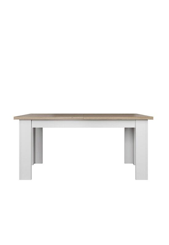 VERLA Étkezőasztal,  fehér/tölgy köves [160/210]