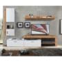 Kép 1/3 - ALUBA Nappali fal/szekrénysor,  wotan tölgy/fehér