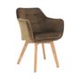 Kép 1/17 - ZERON fotel,  szövet velvet arany-barna/tölgy