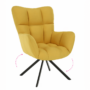Kép 1/19 - KOMODO Dizájnos feorgó fotel,  sárga/fekete