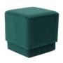Kép 1/10 - ALIMA Puff,  smaragd Velvet anyag