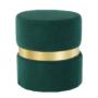 Kép 1/15 - VIZEL Puff,  smaragd Velvet anyag/arany festés