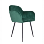 Kép 1/4 - ZIRKON Dizájnos fotel,  smaragd Velvet anyag