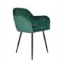 Kép 1/5 - ZIRKON Dizájnos fotel,  smaragd Velvet anyag