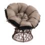Kép 1/4 - TRISS Forgófotel párnával,  barna/fekete/bézs