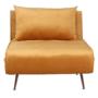 Kép 1/27 - MILIN Fotel ágyfunkcióval,  mustár Velvet anyag/gold króm arany