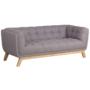 Kép 1/16 - EVARIST Széthúzhatós kanapé,  szürke/tölgy fa