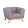Kép 1/14 - EVARIST Fotel,  szürke/tölgy fa