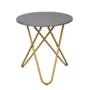 Kép 1/16 - RONDEL Kisasztal,  szürke/arany festés