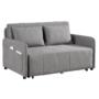 Kép 1/30 - NIKARA kanapé széthúzhatós, világosszürke