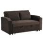 Kép 1/24 - ZAMBA Széthúzhatós kanapé,  barna Velvet anyag
