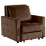 Kép 1/26 - PECHRO Fotel ágyfunkcióval,  csokibarna Velvet anyag