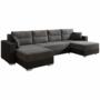 Kép 1/19 - ESSEN Univerzális ülőgarnitúra,  fekete/fekete melír