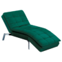 Kép 1/21 - REMAN Fotel ágyfunkcióval,  smaragd/króm