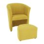 Kép 1/21 - ROSE Klub fotel puffal,  mustár