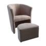 Kép 1/20 - ROSE Fotel puffal,  rózsaszín