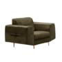 Kép 1/3 - LEXUS Fotel,  zöld/réz