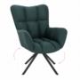 Kép 1/27 - KOMODO Dizájnos pörgő fotel, zöld/fekete