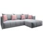 Kép 1/29 - LENY Univerzális ülőgarnitúra,  szürke/rózsaszín [ROH]