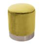 Kép 1/23 - DARON Puff,  arany Velvet anyag/ezüst króm