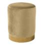 Kép 1/3 - ALAZ Puff,  bézs Velvet anyag/gold króm-arany