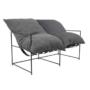 Kép 1/6 - DEKER Dupla ülés-fotel,   szürke szövet/fekete