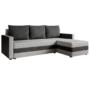 Kép 1/4 - PAULITA Univerzális ülőgarnitúra,  szürke/fekete