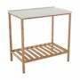 Kép 1/16 - SELENE Polcos kisasztal,  természetes/fehér [TYP 5]