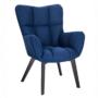 Kép 1/24 - FONDAR Dizájnos fotel,  kék/fekete