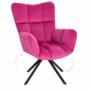 Kép 1/29 - KOMODO Dizájnos forgószék,  rózsaszín színű Velvet anyag/fekete