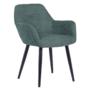 Kép 1/18 - LACEY Design fotel,  zöld/fekete