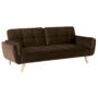 Kép 1/2 - FILEMA Széthúzhatós kanapé,  barna/tölgy
