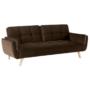 Kép 1/19 - FILEMA Széthúzhatós kanapé,  barna/tölgy