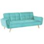 Kép 1/2 - FILEMA Széthúzhatós kanapé,   neo mint/tölgy