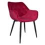 Kép 1/14 - FEDRIS Dizájnos fotel,  málna Velvet anyag