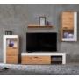 Kép 1/4 - PLATINUM Nappali fal,  tölgy wotan/fehér